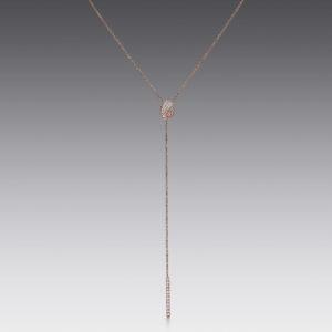 Pavé Bar Lariat Necklace