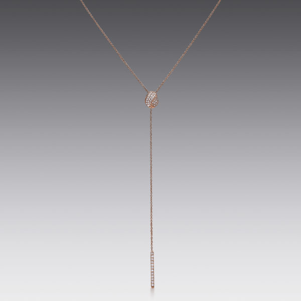 Pavé Bar Lariat Necklace