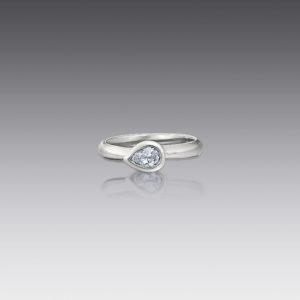 Metro Pear Diamond Ring