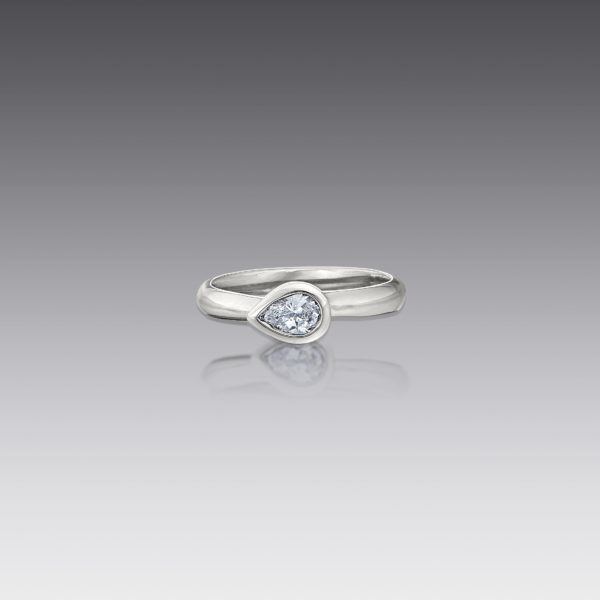 Metro Pear Diamond Ring