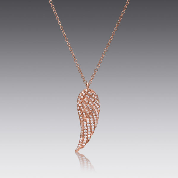 Ava Rose Gold Wing Necklace