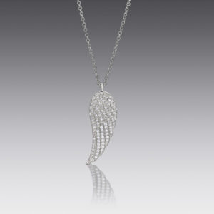 Ava Platinum Wing Necklace