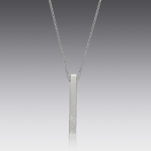 Personalized Platinum Square Bare Pendant