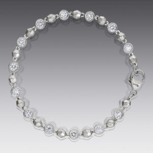 Baubles Bezel Set Diamond Bracelet