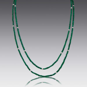 Boho Emerald Beaded Necklace