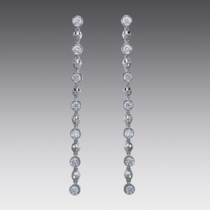 Baubles Bezel Set Diamond Drop Earrings