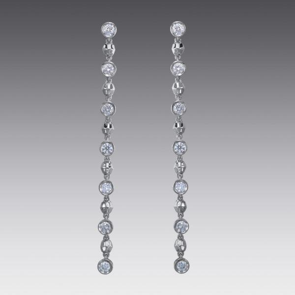 Baubles Bezel Set Diamond Drop Earrings