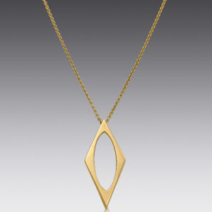 Edge Geometric Necklace
