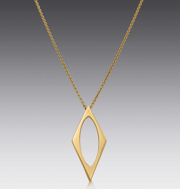 Edge Geometric Necklace