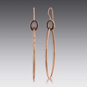 Deco Double Hoop Earrings