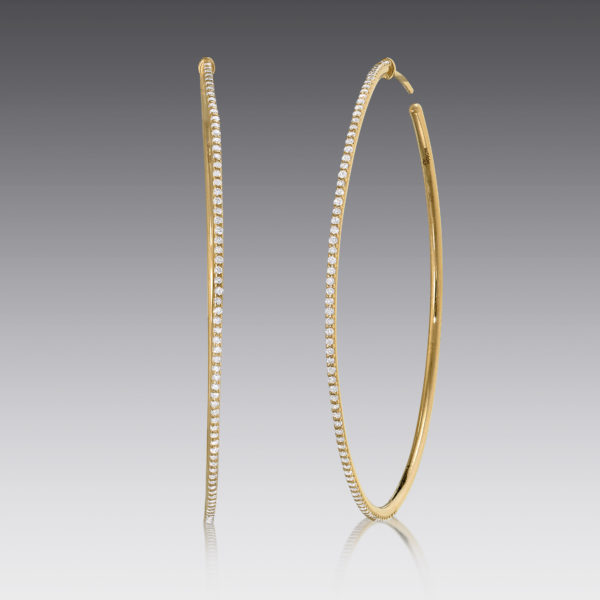 Lola Yellow Gold Hoop Earrings