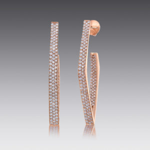 Edge Pavé Geometric Earrings