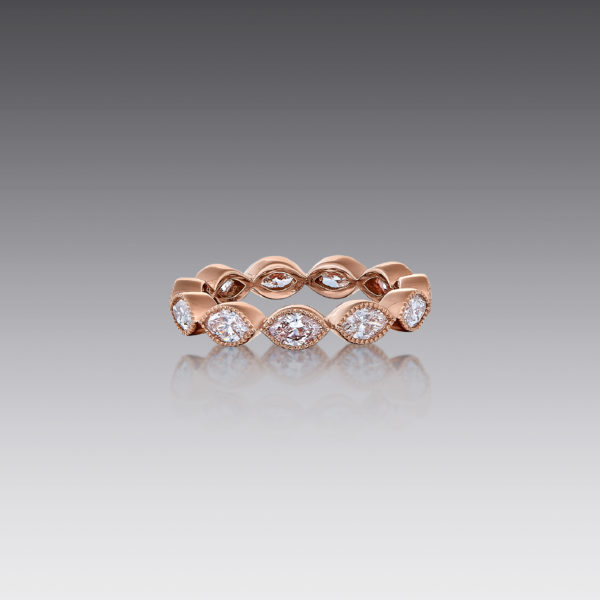 Gia Marquise Diamond Stack Band Ring