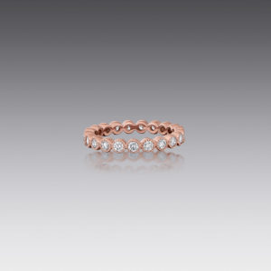 Gia Round Diamond Stack Band Ring