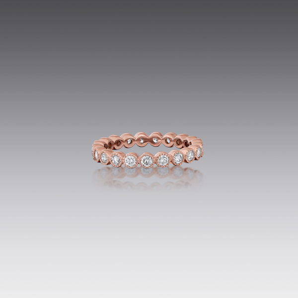 Gia Round Diamond Stack Band Ring