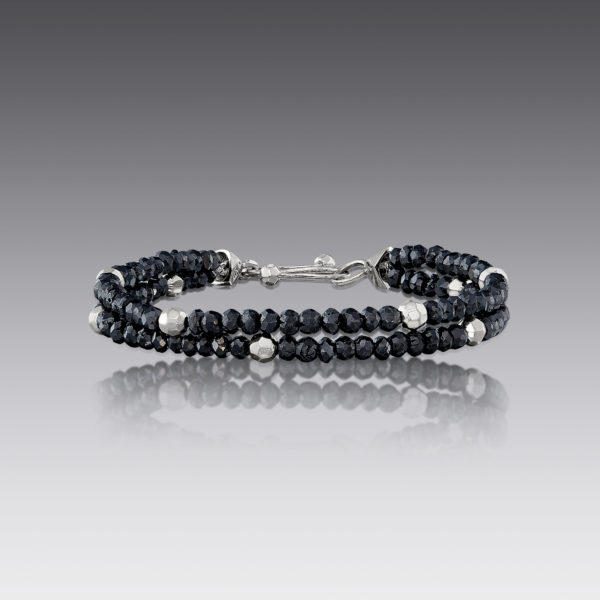 Baubles Black Beaded Diamond Bracelet
