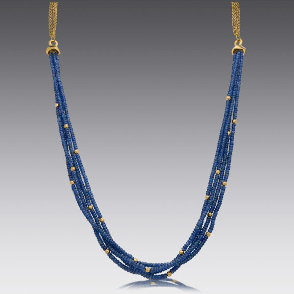 Baubles Rough Sapphire Beaded Necklace