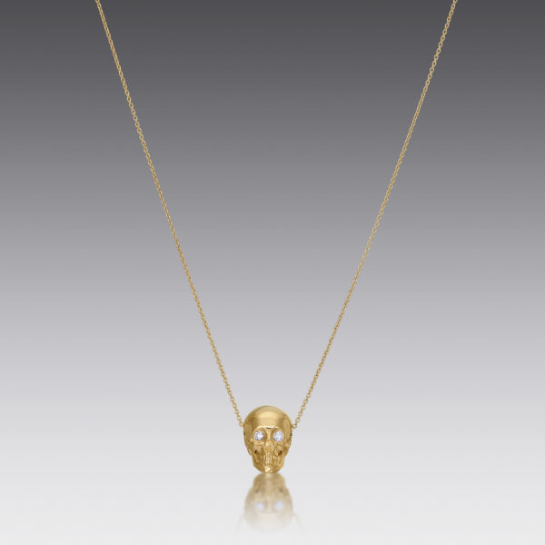 Skull Gold Necklace