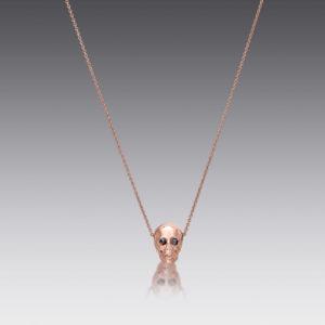 Skull Rose Gold Necklace