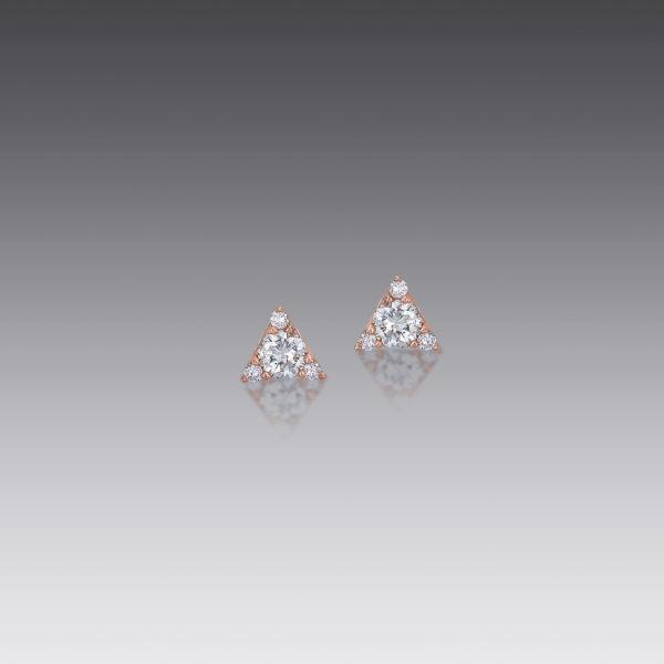 Mini Triangle Diamond Studs
