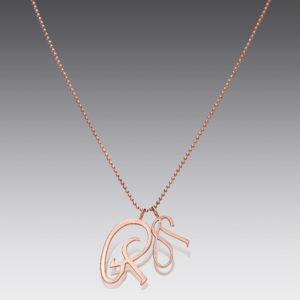 Large Rose Gold Initial Charm
