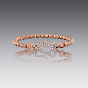 Baubles Rose Gold Beaded Bracelet