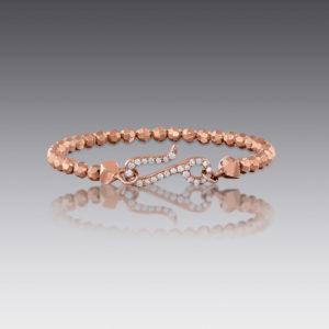 Baubles Rose Gold Beaded Bracelet