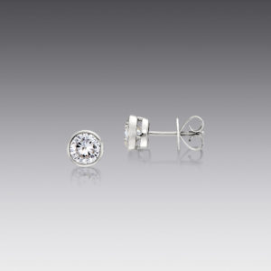 Bright Idea White Gold Stud Earrings