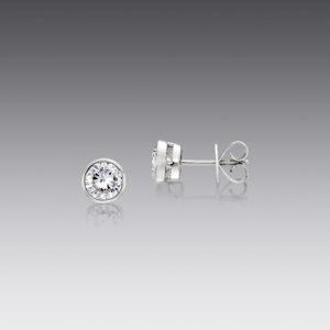 Bright Idea White Gold Stud Earrings