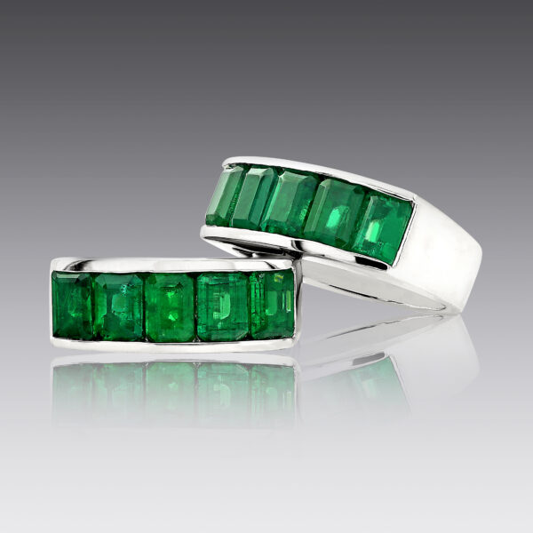 Cleo Emerald Stack Rings